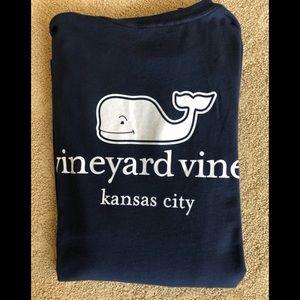 Vineyard Vines Navy Kansas City Whale Tee XS